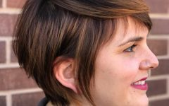 Long Pixie Haircuts with Sharp Layers and Highlights