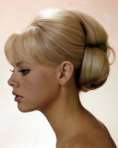 Retro Wedding Hair Updos With Small Bouffant