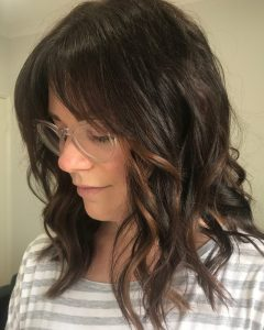 Medium Hairstyles With Long Fringe