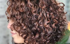 Curly Golden Brown Pixie Hairstyles