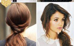 Classy Pinned Pony Hairstyles