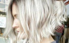 White-blonde Curly Layered Bob Hairstyles