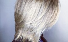 Textured Bronde Bob Hairstyles with Silver Balayage
