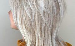 Silver-white Shaggy Haircuts