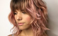 Soft Pastel Shag Haircuts