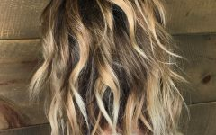 Long Razored Shag Haircuts with Balayage
