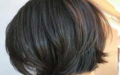 Straight Cut Bob Hairstyles with Layers and Subtle Highlights