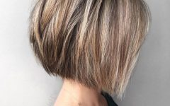 Straight Textured Angled Bronde Bob Hairstyles
