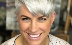 Metallic Short And Choppy Pixie Haircuts