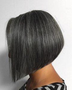 Sleek Gray Bob Hairstyles