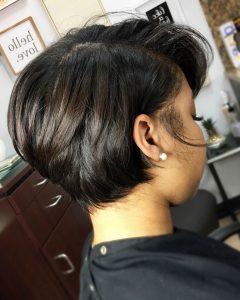 Short Black Bob Hairstyles With Bangs