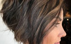 Disheveled Burgundy Brown Bob Hairstyles
