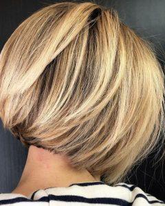 Caramel Blonde Rounded Layered Bob Hairstyles