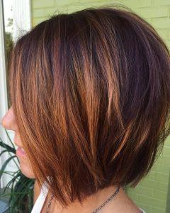 Layered Caramel Brown Bob Hairstyles