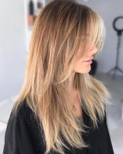 Long Layered Shag Hairstyles With Balayage