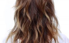 Disconnected Brown Shag Long Hairstyles With Highlights