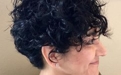 Short Black Hairstyles with Tousled Curls