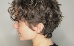 Casual Scrunched Hairstyles for Short Curly Hair