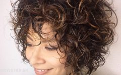 Short Bob Hairstyles with Whipped Curls and Babylights