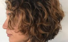 Textured Curly Bob Haircuts