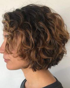 Textured Curly Bob Haircuts