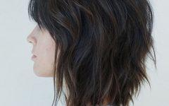 Pretty Shaggy Brunette Bob Hairstyles