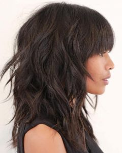 Perfect Bangs And Wild Layers Hairstyles
