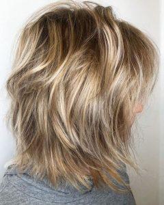 Messy Razored Golden Blonde Bob Haircuts