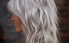 Medium Silver Layers Hairstyles