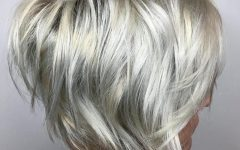 Stacked Choppy Blonde Bob Haircuts