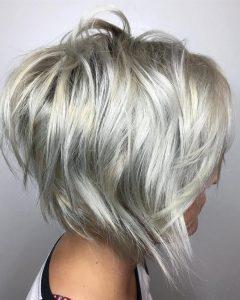 Stacked Choppy Blonde Bob Haircuts
