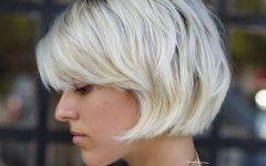 Platinum Short Shag Haircuts