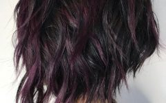 Short Shag Haircuts with Purple Highlights