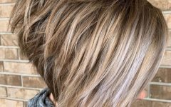Bronde Bob Shag Haircuts with Short Back