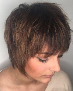 Straight Long Shaggy Pixie Haircuts