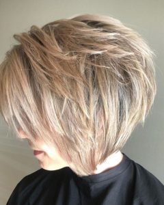 Blonde Bob Hairstyles With Shaggy Crown Layers