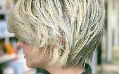 Short Sliced Metallic-blonde Bob Hairstyles