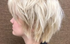 Voluminous Short Choppy Blonde Bob Hairstyles