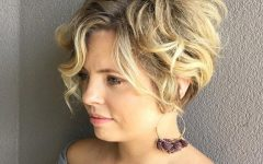 Messy Curly Blonde Pixie Bob Haircuts