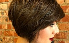 Jaw-length Shaggy Walnut Brown Bob Hairstyles