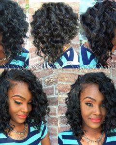 Bouncy Curly Black Bob Hairstyles