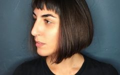 Sleek Bob Hairstyles With Cropped Jagged Bangs