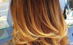 Medium Haircuts with Fiery Ombre Layers