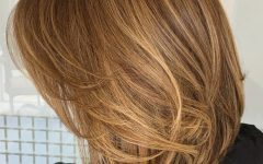 Caramel Lob Hairstyles With Delicate Layers