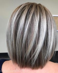 Straight Rounded Lob Hairstyles With Chunky Razored Layers