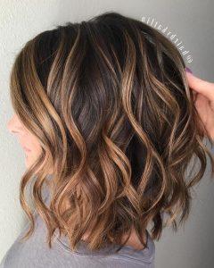 Point Cut Bob Hairstyles With Caramel Balayage