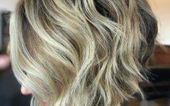 Short Wavy Blonde Balayage Bob Hairstyles