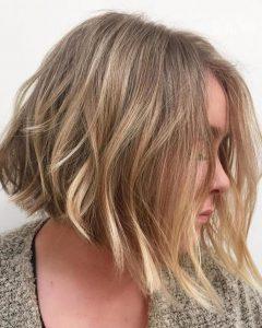 Blunt Cut Blonde Balayage Bob Hairstyles