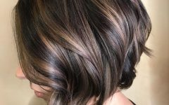 Brunette Bob Haircuts with Curled Ends