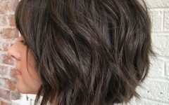 Razored Brown Bob Hairstyles
